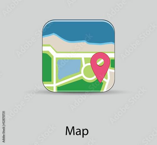 球商业图形图标地图地点