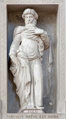 Verona -  Statue of prophet Isaiah in San Bernardino
