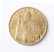 Ukrainian money isolated. One hryvnia coin. Averse