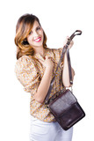 Fashionable woman with hand bag