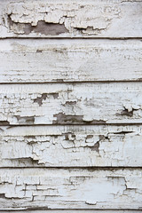 Peeling white paint