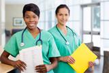 Nurses at work station