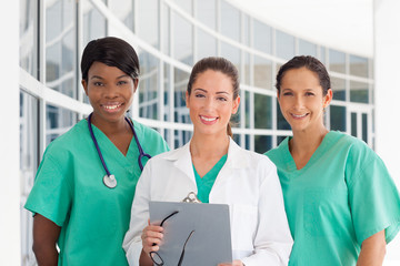 Group of three nurses