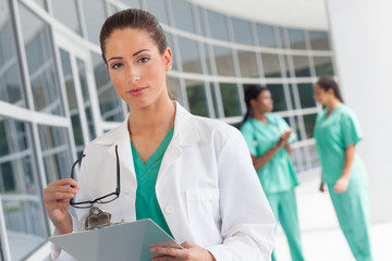 Nurse or Doctor with clipboard