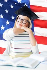 student in graduation cap