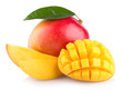 canvas print picture - mango fruit isolated on white background