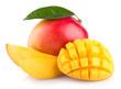 Leinwandbild Motiv mango fruit isolated on white background