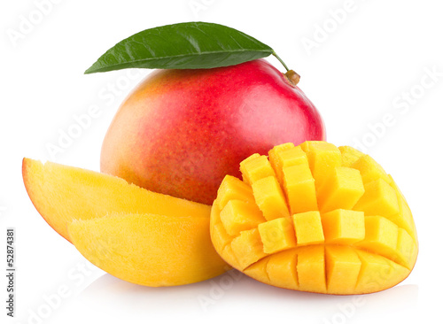 mango fruit isolated on white background - 52874381