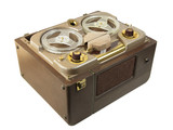 Antique portable reel to reel tube tape-recorder