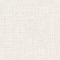 Background With Threads. White Brown Linen. Vector Illustration