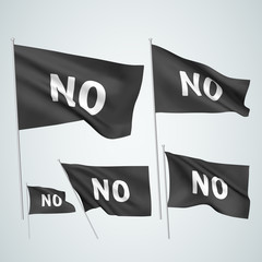 No - black vector flags