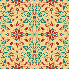 Oriental traditional ornament. Seamless pattern.