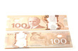 100 dollars Canadian bank notes