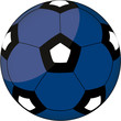 Fußball blau-schwarz-weiß