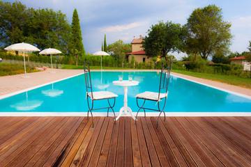 Tuscan pool