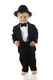 Happy Tuxed Toddler poster