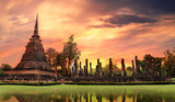 Fototapety Sukhothai historical park, the old town of Thailand