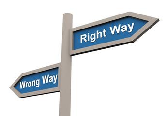 Wrong and right way