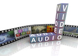 Audio video and film reel