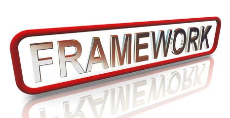 3d buzzword text 'framework'