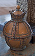 Antique Metal Vase Decor