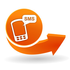 sms sur bouton web orange