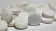 Macro shot of white aspirin pill - 52881911