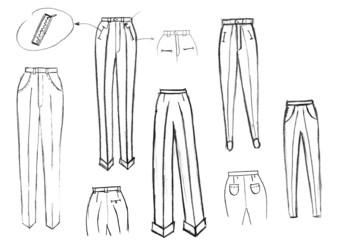 finishing details of women trousers