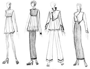 range of striped female clothing