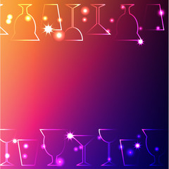 set of cups and glasses on a dark background