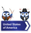 Comical United States of America sign