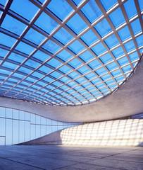 futuristische halle - minimalistic hall