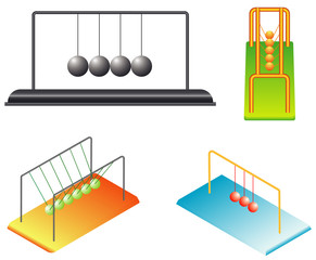 A Newton's Cradle executive desktop toy