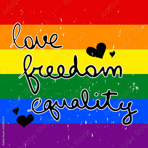 LGBT card design love freedom equaltiy