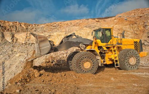 heavy building bulldozer quarry,car