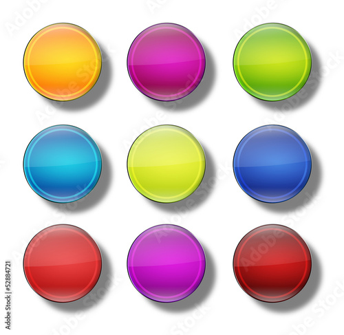 Web Buttons glossy- round #20