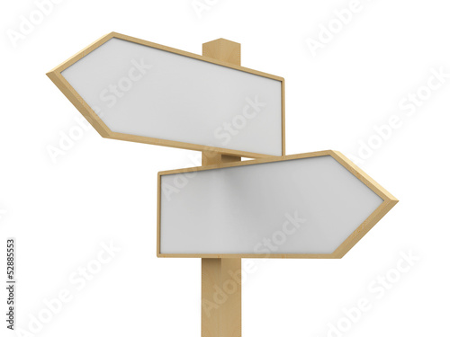 Blank road sign closeup
