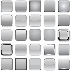 Square grey app icons.