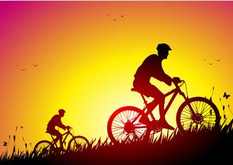 Mountain bike and nature