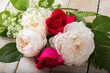 Fresh roses. Flower/summer background.