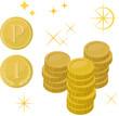 ポイントとコインのイメージ