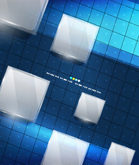 Blue geometry lines background