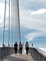 3 girls on bridge