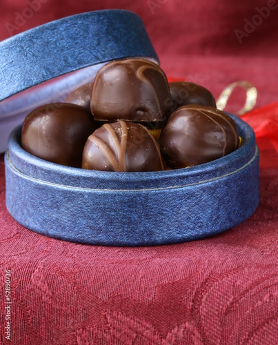 chocolates in a gift box - sweet dessert present