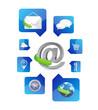web application icons illustration design