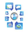social media application icons illustration design
