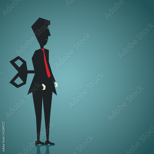 businessman run by key stock vector