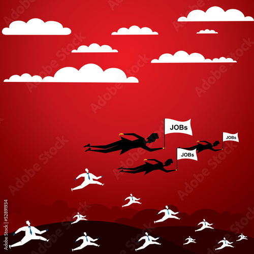 jobs required concept stock vector