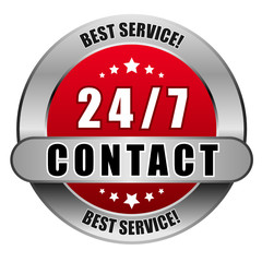 5 Star Button rot 24/7 CONTACT BS BS