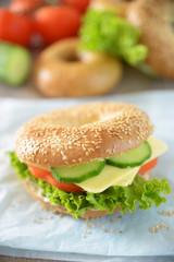 Veganer Käsebagel